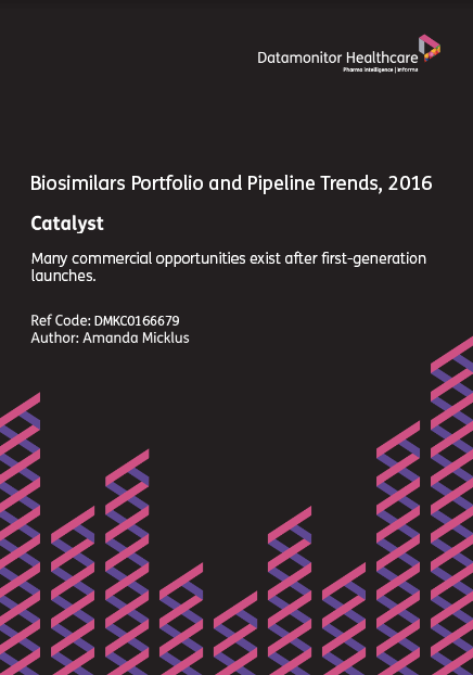 Biosimilars Portfolio and Pipeline Trends, 2016