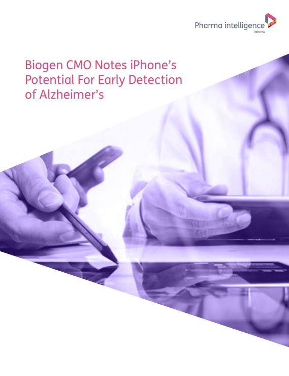 Biogen CMO Notes iPhone's Potential For Early Detection of Alzheimer's