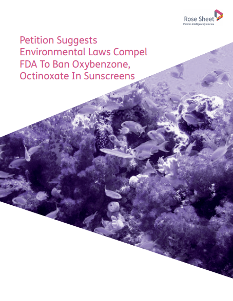 Petition Suggests Environmental Laws Compel FDA To Ban Oxybenzone,  Octinoxate In Sunscreens
