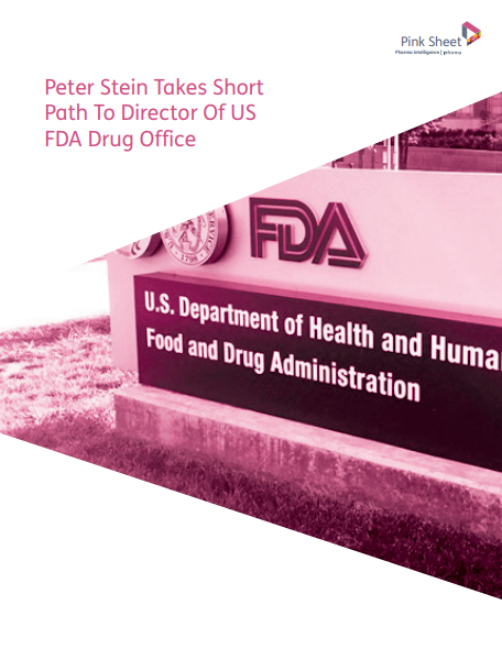 Peter Stein Takes Short Path To Director Of US FDA Drug Office